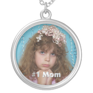 #1 Mom Personalized Photo Necklace