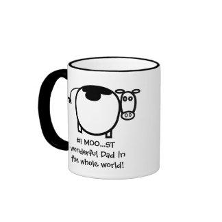 #1 Moo...st Wonderful Father Ringer Mug