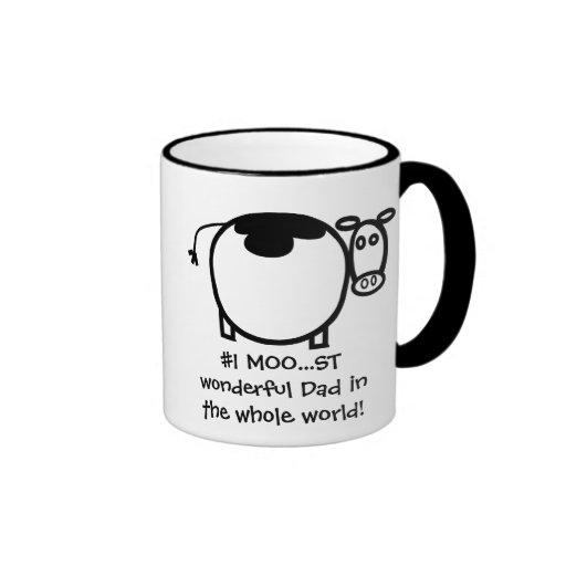 #1 Moo...st Wonderful Father Coffee Mugs