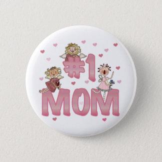 #1 Mum 6 Cm Round Badge
