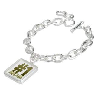 #1 Mum Mother's Day Charm Bracelet