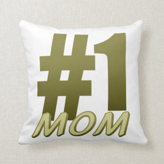 #1 Mum Mother's Day Throw Pillow
