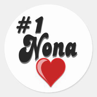 #1 Nona - Celebrate Grandparent's Day Round Stickers