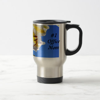 #1 Office Mom gifts Travel Coffee Mug Lily Flowers