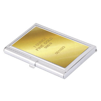 1 Ounce Fine Gold Business Card Holders