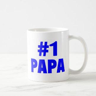 #1 Papa Basic White Mug