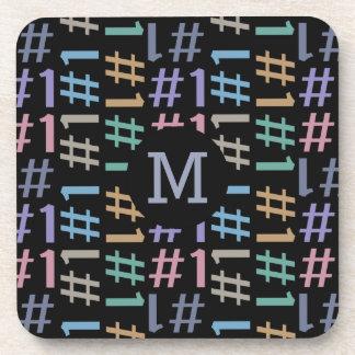 """# 1"" Pattern custom monogram coaster set"