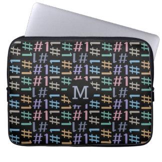 """""""# 1"""" Pattern custom monogram laptop sleeves"""