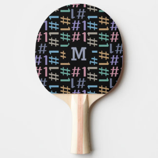 """# 1"" Pattern custom monogram ping pong paddle"