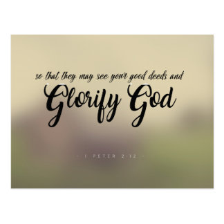 1 Peter 2:12 - Glorify God Postcard
