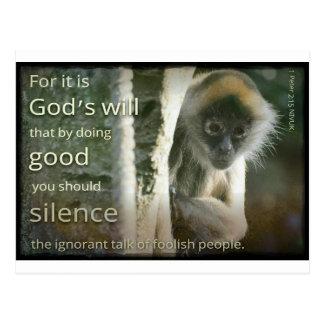 1 Peter 2:15 Postcard