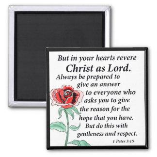 1 Peter 3:15 Square Magnet