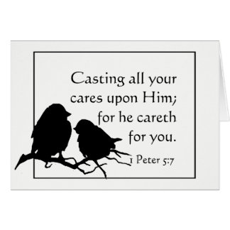 1 Peter 5:7 Casting all Your Cares on Him Card