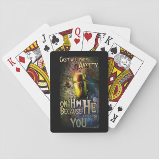 1 Peter 5:7 playing cards