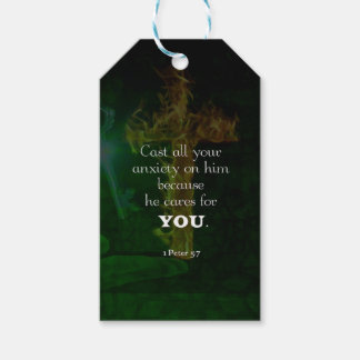 1 Peter 5:7 Uplifting Bible Verses Quote Gift Tags