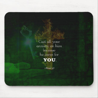 1 Peter 5:7 Uplifting Bible Verses Quote Mouse Pad