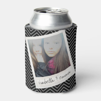 1 Photo - Hipster Square Instagram Friend Photo Can Cooler