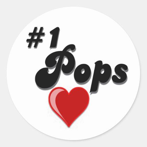 #1 Pops - Celebrate Grandparent's Day Sticker
