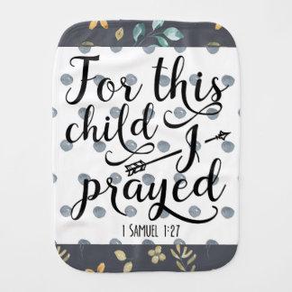 1 SAMUEL 1 27 FOR THIS CHILD BURP CLOTH