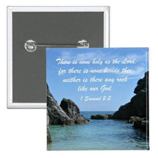 1 Samuel 2:2 15 Cm Square Badge