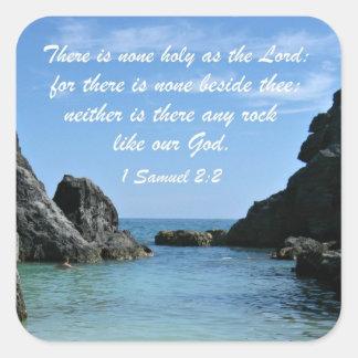 1 Samuel 2:2 Square Sticker