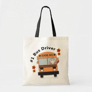 #1 School Bus Driver Budget Tote Bag