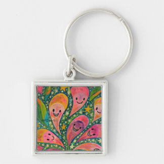 1 sections 1 in laughing flower acrylic picture key ring