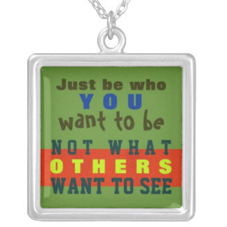 1 Side / JUST BE YOU ~  Square Necklace #32