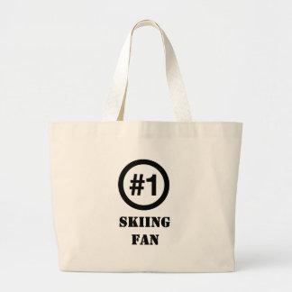 # 1 Skiing Fan Jumbo Tote Bag
