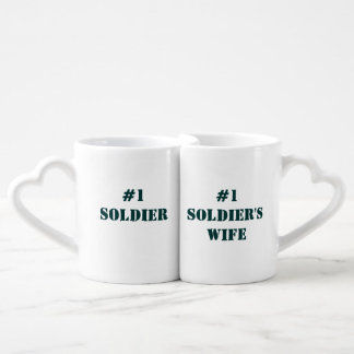 """#1 Soldier/Soldier's Wife"" Nesting Mug Set"