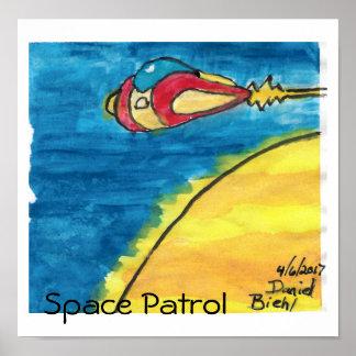 #1 Space Patrol Poster