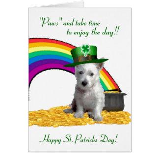 1. Spiritual Westie St Patricks Card