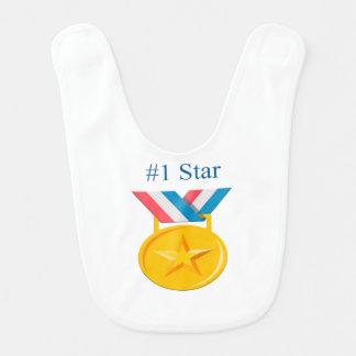#1 Star Baby Bib