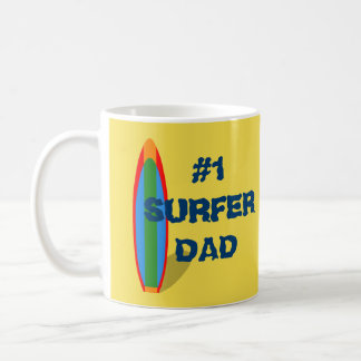 #1 Surfer Day Coffee Mug Father's Day Gift