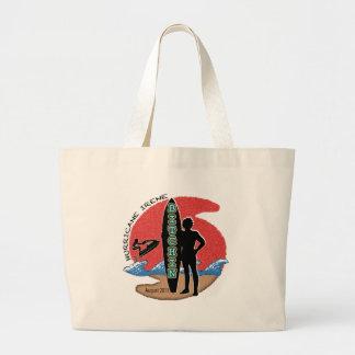 #1 Survived Hurricane Irene Large Tote Bag