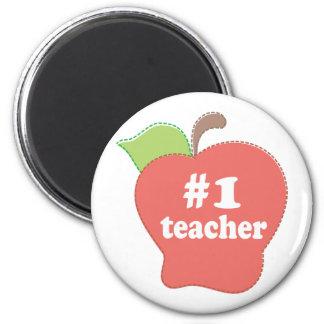 #1 Teacher 6 Cm Round Magnet