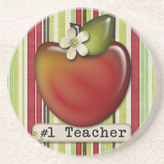 #1 teacher apple coaster
