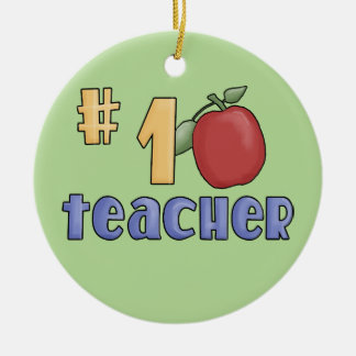 #1 Teacher Christmas Ornament