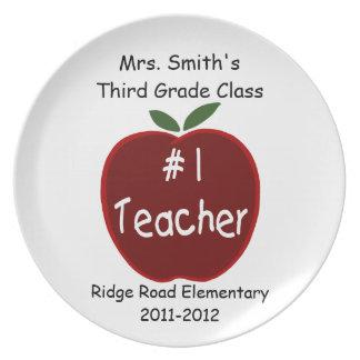 #1 Teacher Plate