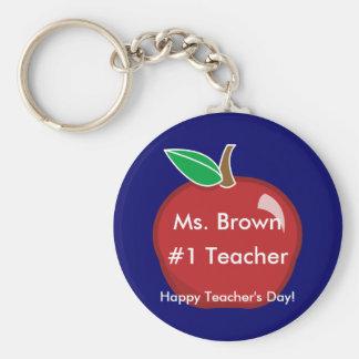 #1 Teacher's Key chain-Customize Key Ring