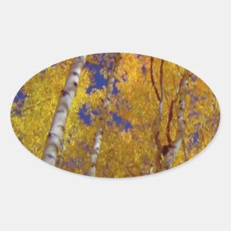 1 temp sq fall season oval sticker