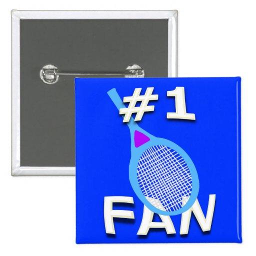 # 1 Tennis Fan Button (light blue racket)