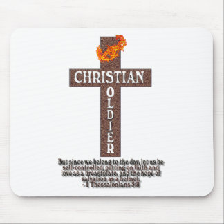 1 THESSALONIANS 5:8 CHRISTIAN SOLDIER MOUSE PAD