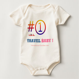 """# 1 Travel Baby !""   by I.D.L. Baby Bodysuit"