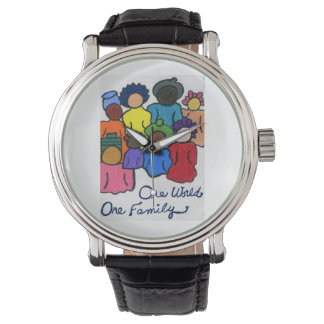 1 World, 1 Family Custom Vintage Watch
