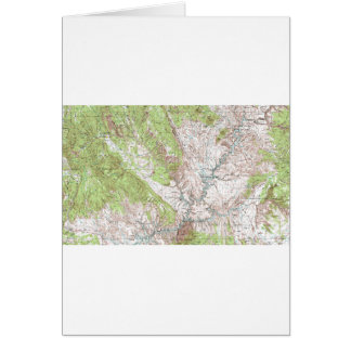 1 x 2 Degree Topographic Map Card