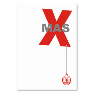 1 Xmas with Christmas Tree Ornament + your text Table Card