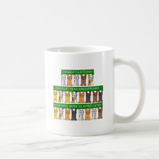 1 year anniversary for employee. coffee mug