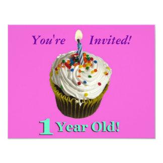 1 Year Old! 11 Cm X 14 Cm Invitation Card