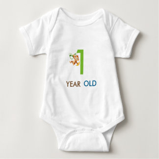 1 YEAR OLD BABY BODYSUIT(add your baby name) Baby Bodysuit